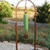 "Lime Chime (kinetic & musical) 78"" high   43"" wide   6"" deep"